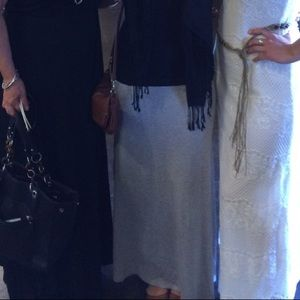 Heather grey maxi skirt